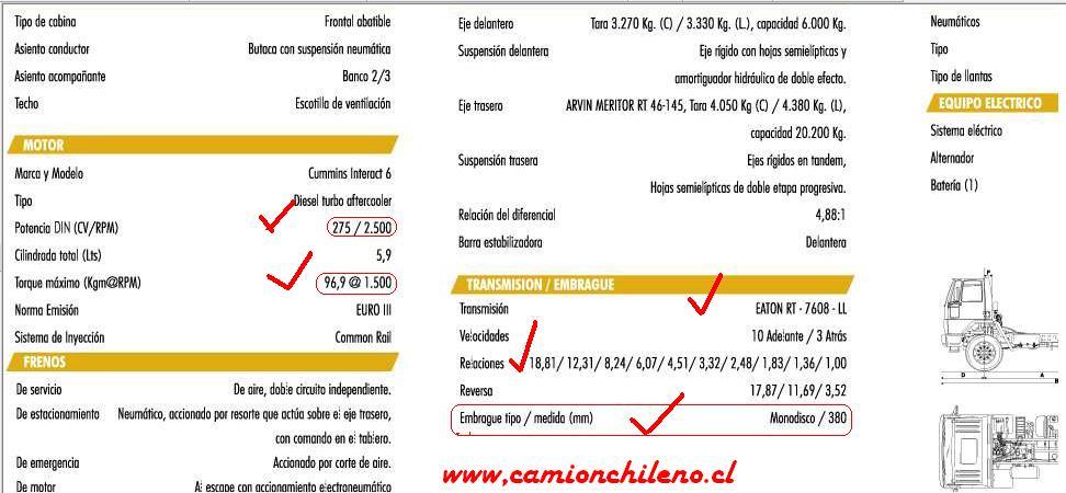Ford Cargo 2628e Camionchileno Cl